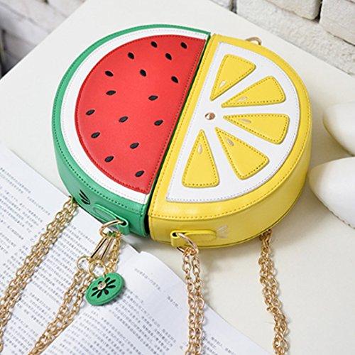 Meliya, Borsa a spalla donna arancione Orange Watermelon