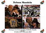 Nelson Mandela Sondermarken für Sammler - Feiern des Lebens und des Todes von Südafrikas erster schwarzer Präsident mit Michael Jackson - Post - Superb Zustand - 2013 / Tschad / 1000F