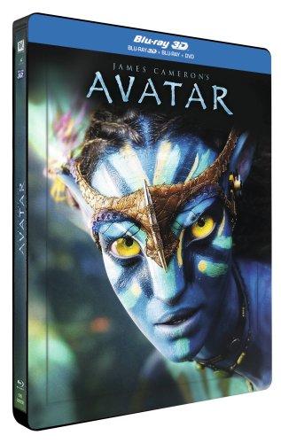 Avatar 3D - Steelbook mit Lenticular Blu-ray + DVD [Blu-ray 3D] [Blu-ray] [FR Import]