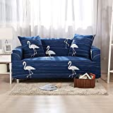 HYDBFKJUBVFU Gedruckt fit Stretch Sofa slipcovers,Europäische Sofa volle Deckung für Vier Jahreszeiten Wohnzimmer möbel beschützer für 1 2 3 4 Kissen Sofa-H Sessel