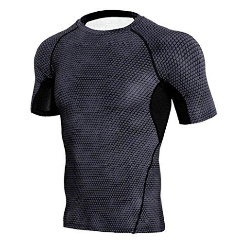 IMJONO IMJONO.Mann-Trainings-Gamaschen-Eignungs-Sport-Gymnastik-Laufende Yoga-Athletische Hemd-Spitzen-Bluse(Schwarz,Medium) (Bräutigam-outfit Mutter Der)