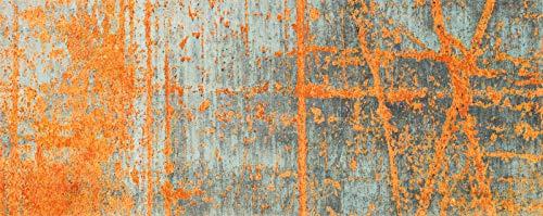 Wash + Dry Rustic Fußmatte, Acryl, orange, 80 x 200 x 0.9 cm