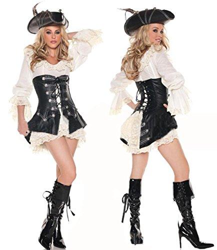 Piraten Xl Kostüme Adult (LIUYU Sexy Piraten Tragen Sexy Unterwäsche Flirtet)