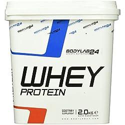 Bodylab24 Whey Protein Eiweißpulver, Geschmack: Vanille, hochwertiges Proteinpulver, Low Carb Eiweiß-Shake für Muskelaufbau und Fitness, 2000g