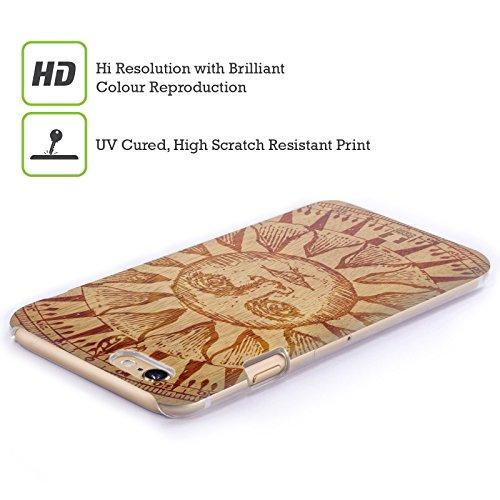 Head Case Coque pour iPhone 4/4S Motif Soleil gravé sur bois Soleil