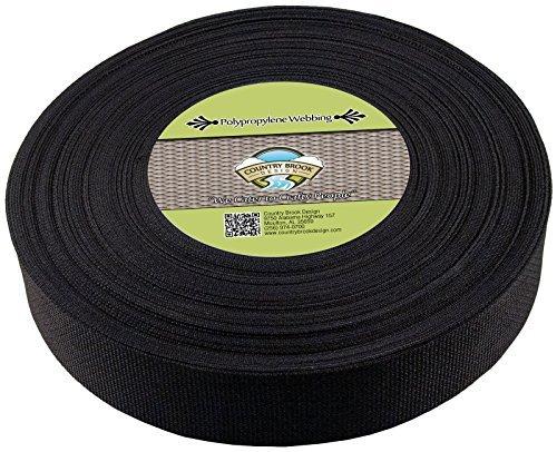 Country Brook Design 5,1cm schwarz beschleunigungskraft Gurtband, 100Yards -