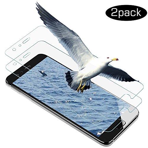 Huawei Honor 9 Panzerglas Schutzfolie, Wsiiroon Hochwertige 3D Touch und 9H Härte Displayschutzfolie mit Ultra-Clear 033mm 2.5D Kanten für Huawei Honor 9 [2 Stück]