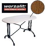 Werzalit Gastronomie Tischplatte Zebrano 120x65 Bistrotisch Gastro Tisch Platte