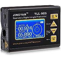 KKmoon TLL-90S 0.005 Medidor de Ángulo Profesional Eje Dual Digital LáserNivel Clinómetroángulo Transportador con Lcd Monitor 100-240V 50-60Hz