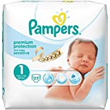 Pampers New Baby Sensitive Nappies Carry Pack, Size 1 (Newborn) - 23 Nappies
