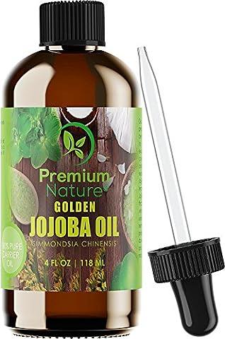 Golden Jojoba Oil Pure Organic - 4 oz Cold-Pressed Unrefined