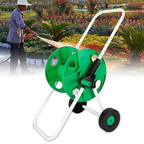 DiLiBee Tragbarer Gartenschlauch, Rollwagen, Wasserschlauch, Rollwagen, Rollwagen, Gartenbewässerung, freistehend, Grün