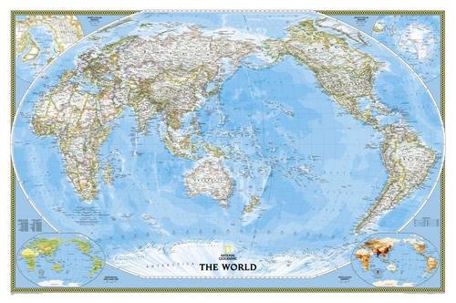 World Classic, Pacific Centered, Tubed: Wall Maps World: NG.PW1020324 (National Geographic Reference Map) por National Geographic Maps