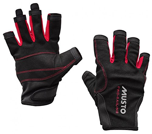 Musto Essential Sailing Short Finger Gloves BLACK AS0813 Sizes- - ExtraLarge