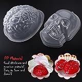 PBPBOX Halloween Puddingform Gehirn Zombie Brain Party Deko - 2