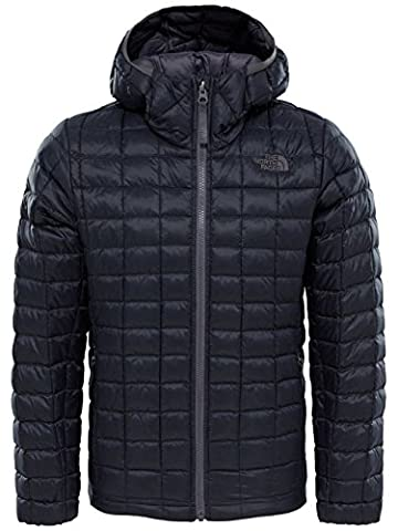 The North Face Thermoball Boys' Outdoor Hooded Jacket available in TNF Black - Large