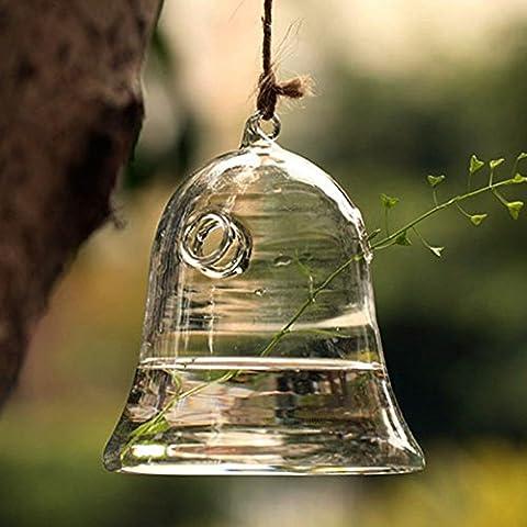 Kungfu Mall-Vaso in vetro a forma di campana da coltivazione idroponica, Contenitore per piante - Hanging Flower Vase