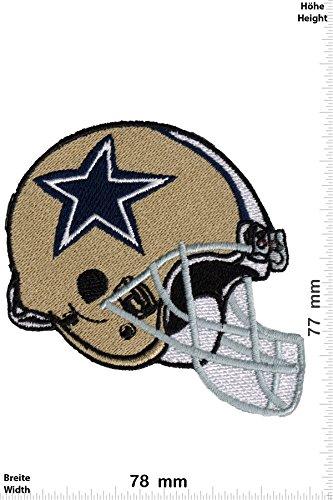 Patch-Iron-Dallas Cowboys - Helm - NFL - Motorsport - Sport - Sport USA - - Iron On Patches - Aufnäher Embleme Bügelbild Aufbügler (Helme Dallas Cowboy)