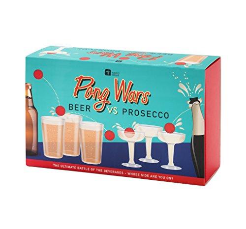 Talking Tables Ping-Pong-Spiel - Prosecco gegen Bier. Wer gewinnt?