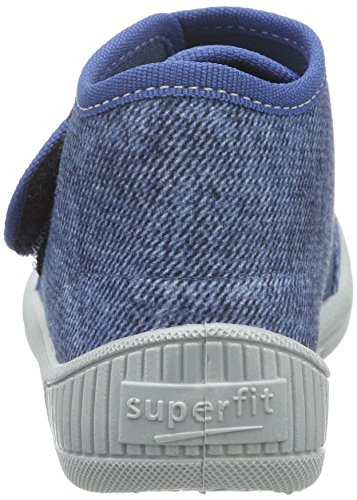 Superfit Jungen Bully 700253 Hohe Hausschuhe Blau (WATER KOMBI 88)