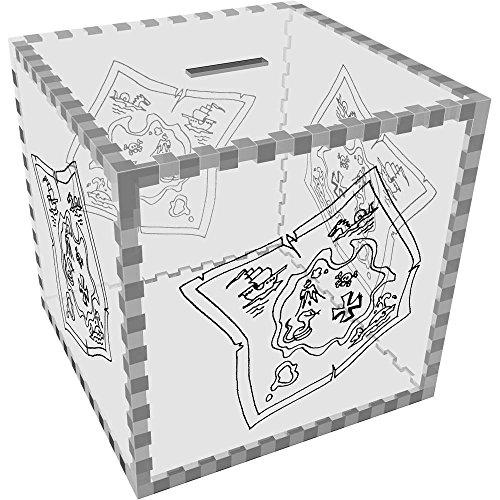 Azeeda Grande 'Mapa Tesoro' Caja Dinero / Hucha MB00062888