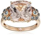 Renato Fellini Damen-Ring 585 Gelbgold teilvergoldet Morganit rosa Kissenschliff Aquamarin Gr. 53 (16.9) - HEJR-2781 17