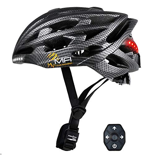 Mymfi Unisex's Lumex Pro Smart Cycle Helmet, Carbon, 58-61 cm Best Price and Cheapest