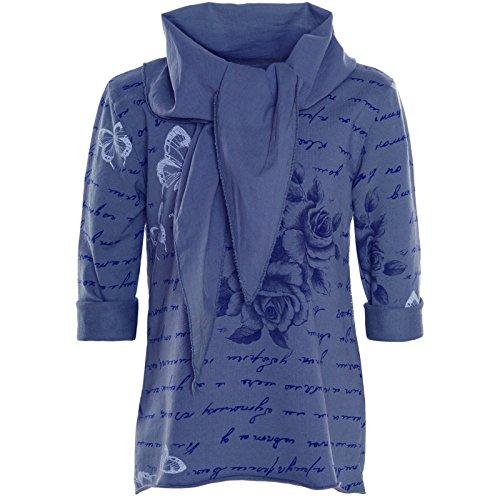 BEZLIT Mädchen Wende Pailletten Long Shirt Bluse Pullover Langarm Sweat Shirt 20994, (Kostüme Kind Kleid Gemütliche Fledermaus)