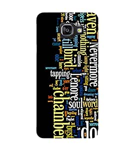 SAMSUNG GALAXY A5 2017 MOTIVATIONAL QUOTE PRINTED BACK CASE COVER by SHAIVYA