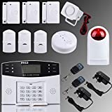 Security4U XF LCD Security Wireless GSM Home Alarm System Autodial SMS Call for House Burglar Intruder support GSM Alarm Control Host Outdoor Siren