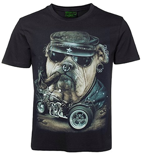 Biker T-Shirt Bulldogge mit Trike Größe XL