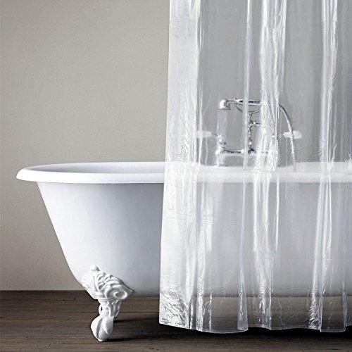 Duschvorhang Liner klar Schimmel resistent Bad Vorhang Liner Set mit 12 Haken wasserdicht PEVA (183x183 cm) -Transparent