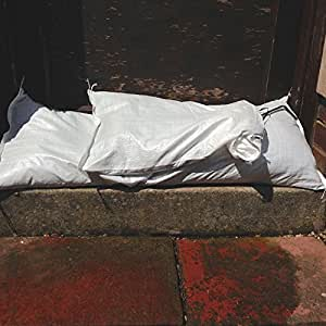 25 x Yuzet White Woven Polypropylene Sandbags Sacks Flood Defence Sand Bags