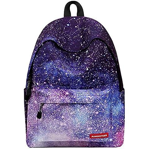 Sacchetti di scuola per ragazze adolescenti zaino borsa da viaggio della tela di canapa per la scuola