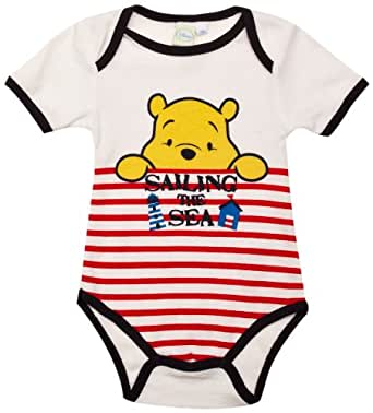 Winnie the Pooh ME0342 Baby Boy's Body Optical White/Blue/Redstripes 12-18 Months