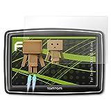 atFoliX Displayschutz für TomTom XXL IQ Routes Spiegelfolie - FX-Mirror Folie mit Spiegeleffekt