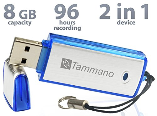 Spy USB Digital Voice Recorder with 8GB Flash Drive- Best For Meetings Presentations Taking Notes- Mac/Windows- Pro Memory Stick- No Flashing Light- 96hrs Audio Sound Recording- One ON/OFF button  available at amazon for Rs.3899