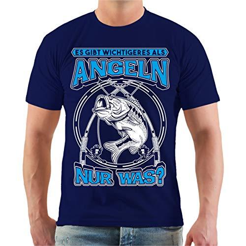 Männer und Herren T-Shirt Es gibt Wichtigeres als Angeln NUR was? Größe S - 8XL