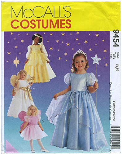 Kostüm Engel Muster - McCall 's Kostüme Muster 9454Größe (5,6) der Kinder und der Mädchen Pretty Princess und Engel Kostüme