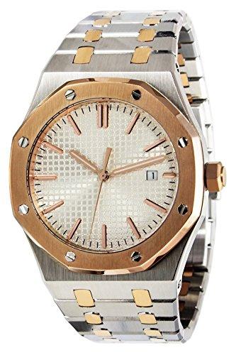 PARNIS 9051 sportlich-elegante Herren-Automatikuhr 5BAR Wasserdicht 41mm Herrenuhr Saphirglas massives Armband mit Butterfly-Schließe MIYOTA Markenuhrwerk Kaliber 821A
