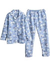 MEIXIA Camisón Camisón Camisón Bata Pijama Mujer Otoño E Invierno Algodón Grueso ...