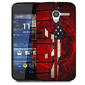 Snoogg Us Ak47 Black Tree Red Designer Protective Back Case Cover For Motorola Moto X