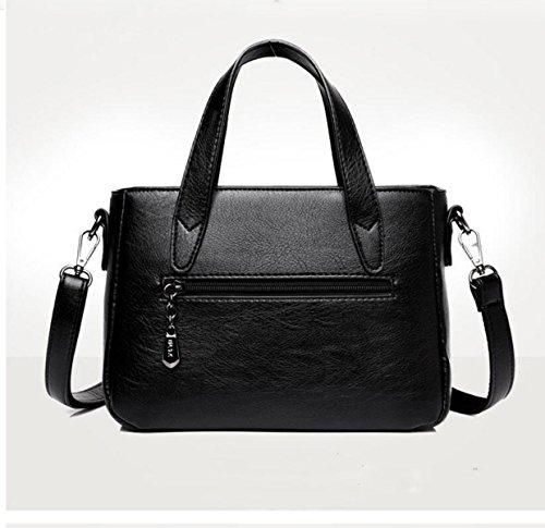 Damen Wilde Schulter Messenger Bag Große Kapazität Spleißen Handtasche Blue