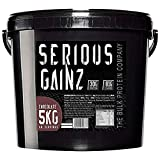 The Bulk Protein Company Serious Gainz Mass Gainer Powder, Chocolate, 5 kg