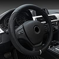 ECLEAR Auto Universal Lenkradh/ülle Lenkrad Abdeckung Lenkradbezug Lenkradschoner aus Laser-Drahtzieh Mikrofaser-Leder 37-39 cm//15 Anti Rutsch Blau