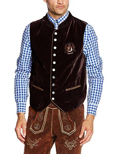 Fuchs Trachtenmoden Herren Trachtenweste, Braun (Braun), 52