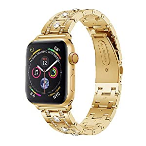 Wawer Apple Watch Series 4 Armband Kristall Strass Dekorative Uhrenarmband Ersatz Bügel für Apple Watch Series 4 40mm / 44mm