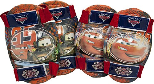 Disney Kinder Car Knie und Ellenbogenschoner Set 4-Teilig, Rot, M, 35521