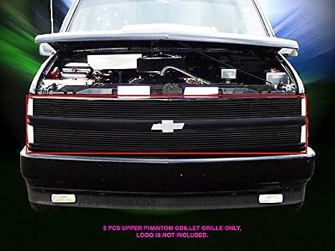 Fedar 1994-1999 Chevy Blaze/C/K Pickup/Suburban/Tahoe Phantom Billet Grille Grill 2-pcs Set-Black # 320369 by Fedar
