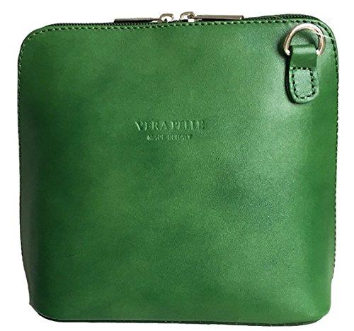 Vera Pelle Bag - Classica borsa da donna, a tracolla donna Verde scuro